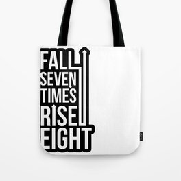 Rise (Black) Tote Bag