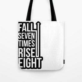 Rise (Black) Tote Bag