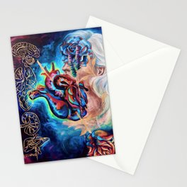 """""""Trying To Trust You"""" Painting Stationery Cards"""