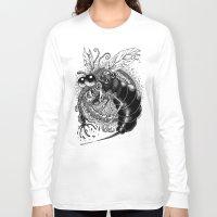 bug Long Sleeve T-shirts featuring BUG! by PRESTOONS / Art by Dennis Preston