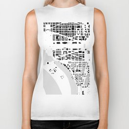 Washington DC building city map Biker Tank