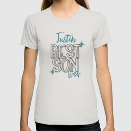 Justin best  son ever name gift for Justin T-shirt