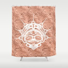 Spirit Frog Copper Shower Curtain