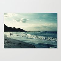 surf Canvas Prints featuring Surf by Hilary Longley