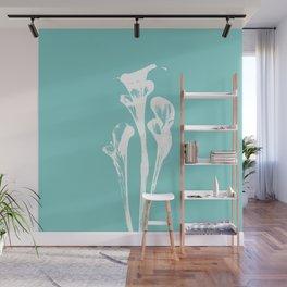 Calla Lily - Aqua Wall Mural