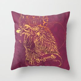 El Briguento - The Fighter (Golden) Throw Pillow