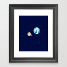 Rabbit on the moon? Framed Art Print
