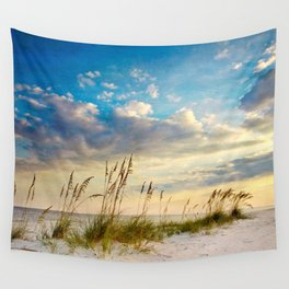 Sea Oats Beach Sunset Wall Tapestry