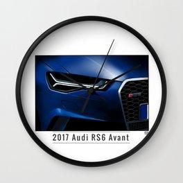 2017 RS6 Avant Wall Clock