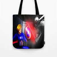 fight Tote Bags featuring Fight! by Momo Aiko
