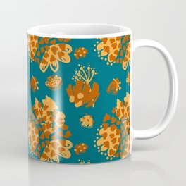 Bold abstract flowers and shapes pattern Coffee Mug