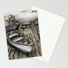 Old Boat on the Dock Stationery Cards