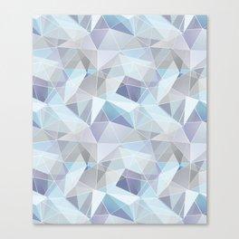 Broken glass in blue. Canvas Print