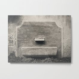 Water fountain in the center of Milan Metal Print
