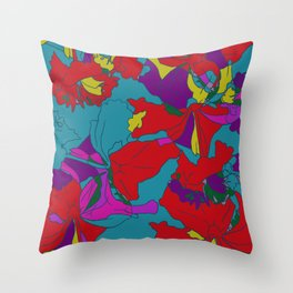 summers grace #2 Tropical Throw Pillow