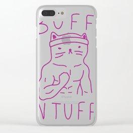 BUFF _N TUFF CAT Clear iPhone Case