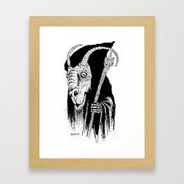 Goat Wizard Framed Art Print