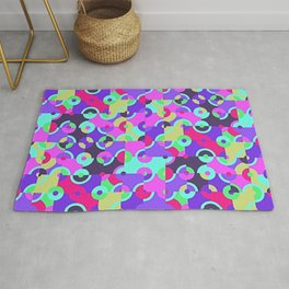 Multicolor Circle Quarters Rug