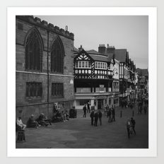Chester in black and white Art Print