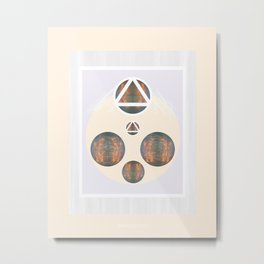 Monkey Head: Circle & Triangle Metal Print