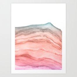Agate Art Southwest Colors Art Print