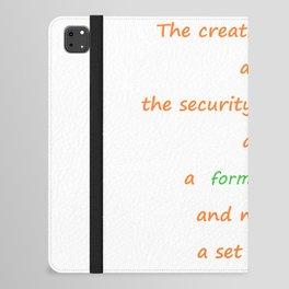 Forma mentis iPad Folio Case