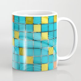 Block Aqua Blue and Yellow Art - Block Party 2 - Sharon Cummings Coffee Mug