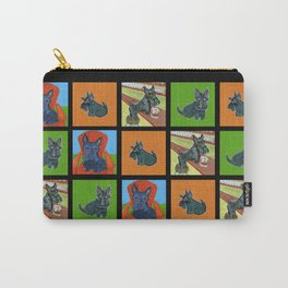 Scotties everywhere -- in Black Carry-All Pouch