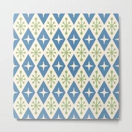 Mid Century Modern Atomic Triangle Pattern 104 Metal Print