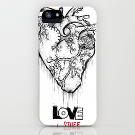 Heart Of Hearts: Outline & Stuff iPhone Case