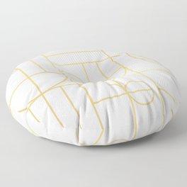 Minimalist Mid Century Modern Gold Pattern Floor Pillow