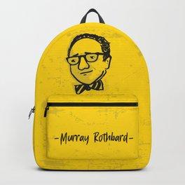 Murray Rothbard Illustration Backpack