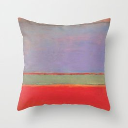1951 No 6 Violet Green and Red by Mark Rothko HD Throw Pillow
