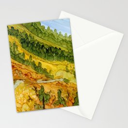 Autumn Mountain Path Stationery Cards