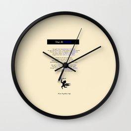 """COUP DE FOUDRE"" - POEM Wall Clock"