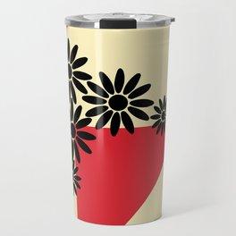 Abstract Vase Travel Mug