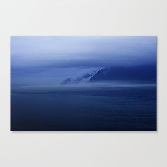 Smooth surf blues Canvas Print