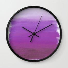 Purples No. 1 Wall Clock