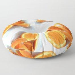 Orange Quarters Floor Pillow