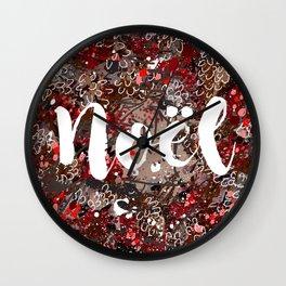 Couronne de Noël Wall Clock