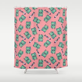 Maneki Neko Kei Shower Curtain