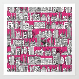 New York pink Art Print