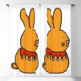 Cute gold bunny with a fancy beaded collar Blackout Curtain