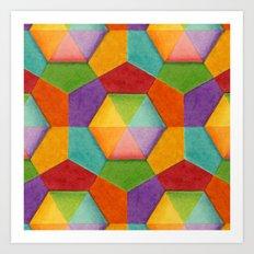 Geometric Rainbows Art Print