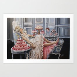 Marie Antoinette -let them eat cake Art Print