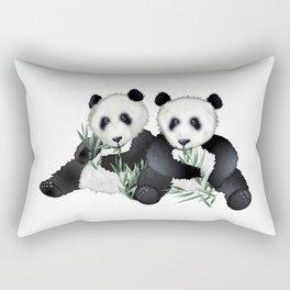 Panda Bear Pair Rectangular Pillow