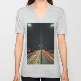Car Lights Unisex V-Neck