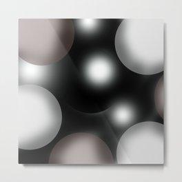 spherical space abstract geometrical digital painting Metal Print