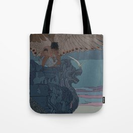 Perched Angels Tote Bag
