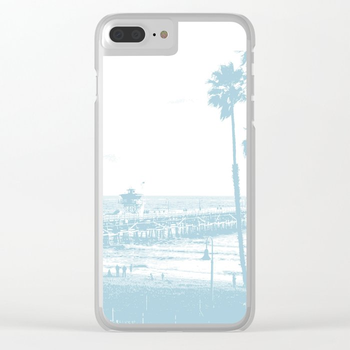 San Clemente Pier, Southern California Clear iPhone Case